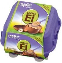 Milka Hazelnut Creme & Chocolate Eggs 4-pack