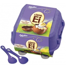 Milka Creme & Chocolate Eggs 4-pack