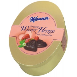 Manner Viennese Hearts Strawberry Creme Chocolates