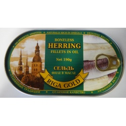 Riga Gold Boneless Herrings in Oil