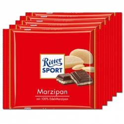 Ritter Sport Marzipan Chocolate BOX OF 12 - SAVE 20%