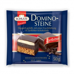 Schulte Dominoes Dark Chocolate 50g