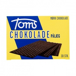 Toms Dark Chocolate Wafers Mørk Pålægschokolade