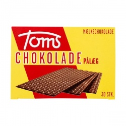 Toms Milk Chocolate Wafers Lys Pålægschokolade